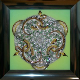 "Картина Swarovski ""Орнамент Змеи"""