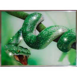 "Картина Swarovski ""Зеленый Змей"""