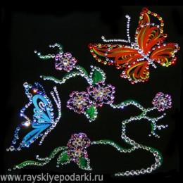 "Картина из кристаллов Swarovski ""Цветущий край"""