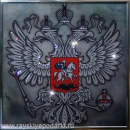 "Картина из кристаллов Swarovski ""Герб (серебро)"""