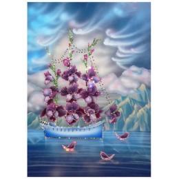 "Картина из кристаллов Swarovski ""Корабль любви"""