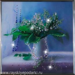 """Картина из кристаллов Swarovski """"Ландыши"""""""