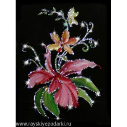 "Картина из кристаллов Swarovski ""Орхидеи"""