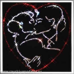 "Картина из кристаллов Swarovski ""Поцелуй"""