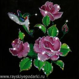 "Картина из кристаллов Swarovski ""Райский сад"""