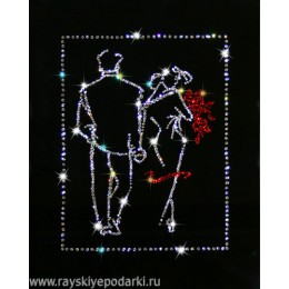"Картина из кристаллов Swarovski ""Свидание"""