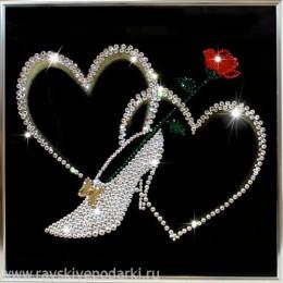 "Картина из кристаллов Swarovski ""Туфелька для золушки"""
