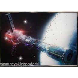 "Картина из кристаллов Swarovski ""В космосе"""