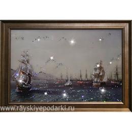 """Картина из кристаллов Swarovski """"Военный флот"""""""