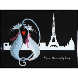 """Картина с кристаллами сваровски """"Из Парижа с любовью"""""""