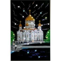"""Картина с кристаллами Swarovski """"Храм Христа Спасителя"""""""