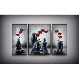 """Картина с кристаллами Swarovski """"Изящество формы"""" (триптих)"""