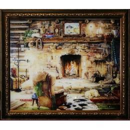 """Картина с кристаллами Swarovski """"После охоты"""""""