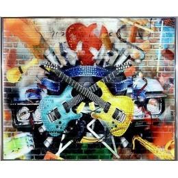 """Картина Swarovski """"Гитары"""""""