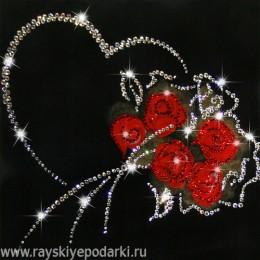 """Картина Swarovski """"От всего сердца"""""""