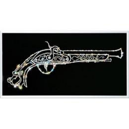 """Картина Swarovski """"Старинный мушкет"""""""