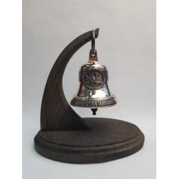 """Колокол бронзовый на подставке """"Свадебный"""" d7,5см, 0,3кг"""