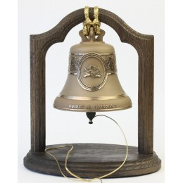 """Колокол бронзовый на подставке""""Совет да любовь"""" d12 см, 1 кг"""