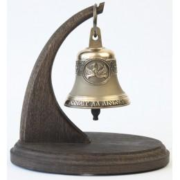"""Колокол бронзовый на подставке""""Свадебный"""" d7 см, 0.3 кг"""