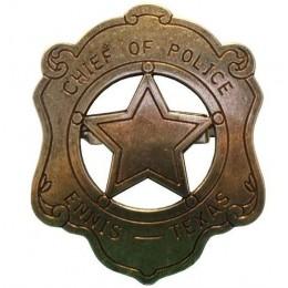 """Декоративный бейдж """"Техасский шеф полиции"""""""