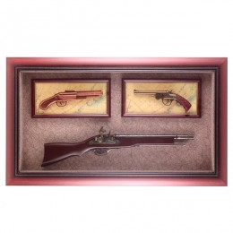 """Настенный коллаж """"Оружие"""", 80х47 см."""