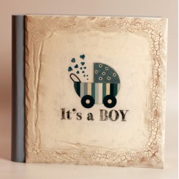 """Детский фотоальбом в подарочном кейсе """"It's A Boy"""" 32х31см"""