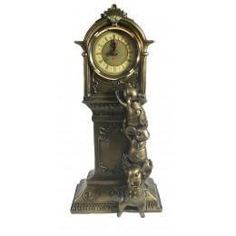 Композиция время Часы с мышками (бронза) L9 W16 H34 см