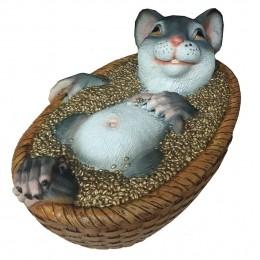 Копилка Крыса в корзинке с зерном L34W22H17
