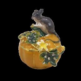 """Шкатулка для ювелирных украшений """"Мышка"""" со стразами"""
