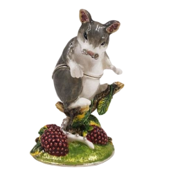 """Шкатулка для ювелирных украшений """"Мышка"""" со стразами 4.5*4*8 см"""