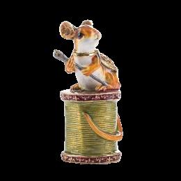 """Шкатулка для ювелирных украшений """"Мышка"""" со стразами 4.6*6.3*6.7см"""