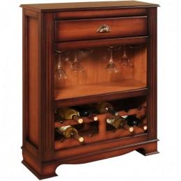 """Декоративный винный шкаф с выдвижным ящичком """"Лувр"""", выс.80см"""