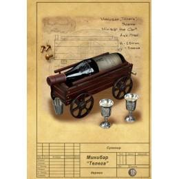 Авторская подставка для вина из ясеня «Телега»