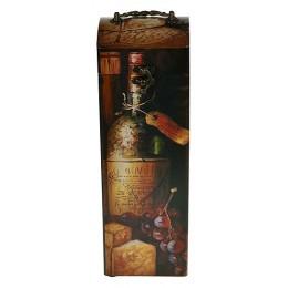 "Шкатулка под бутылку ""Малиновое вино"""