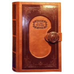"""Книга минибар для виски """"Чистый виски"""", натуральная кожа"""