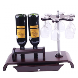 """Мини-бар с бокалами и ящичком для принадлежностей """"Винодельня"""""""