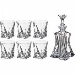 "Набор для виски Crystalite ""Флорал"" (штоф +6 стаканов)"