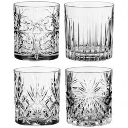 """Набор для виски-коктейлей RCR """"Миксолоджи"""" (4 стакана разные рисунки)"""