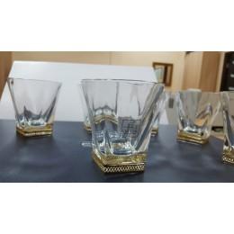 "Набор из 6-ти бокалов для виски Chinelli ""Fusion"" (золото)"