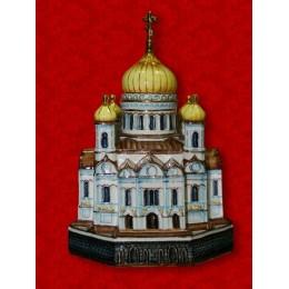 """Подарочный цветной штоф с золотом """"Храм Христа Спасителя"""""""