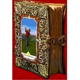 """Подарочный цветной штоф с золотом """"Мудрая книга"""""""