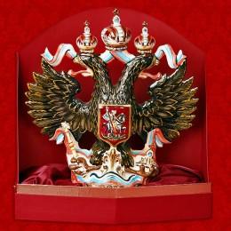 """Подарочный цветной штоф с золотом """"Орёл с гербом"""""""