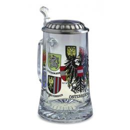 """Коллекционная пивная кружка с оловянным декором """"Bundeslander"""" выс.18см"""
