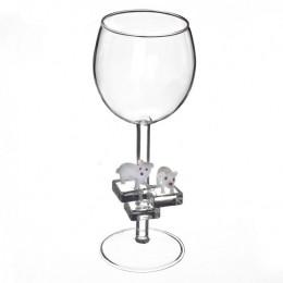 """Дизайнерский бокал для вина """"Белые медведи"""", 350мл"""