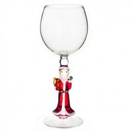 """Дизайнерский бокал для вина """"Дед Мороз с белочкой"""", 350мл"""