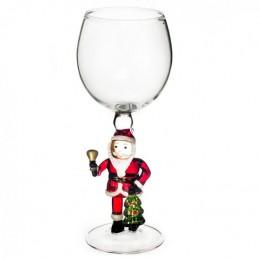 """Дизайнерский бокал для вина """"Дед Мороз с колокольчиком"""", 350мл"""