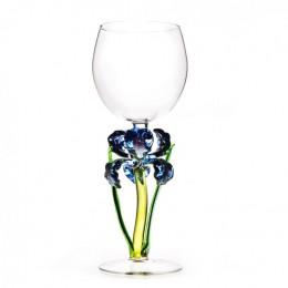 """Дизайнерский бокал для вина """"Фиолетовый ирис"""", 350мл"""
