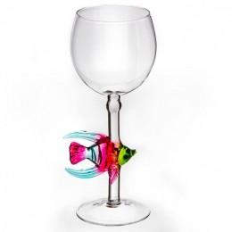"""Дизайнерский бокал для вина """"Красивая рыбка"""", 350мл"""