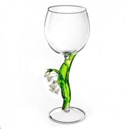 """Дизайнерский бокал для вина """"Ландыш"""", 350мл"""