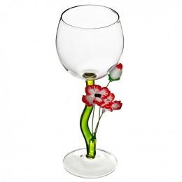 """Дизайнерский бокал для вина """"Нарядные маки"""", 350мл"""